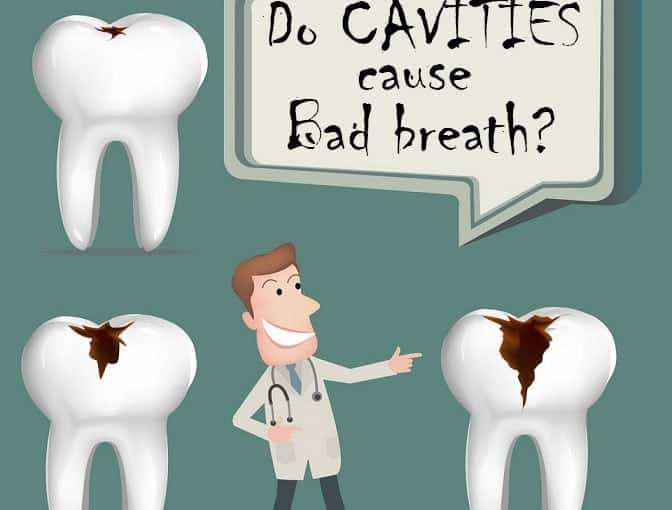 Do cavities cause bad breath?