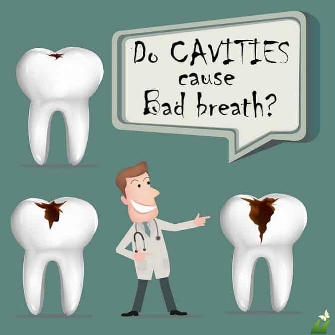 Do cavities cause bad breath?