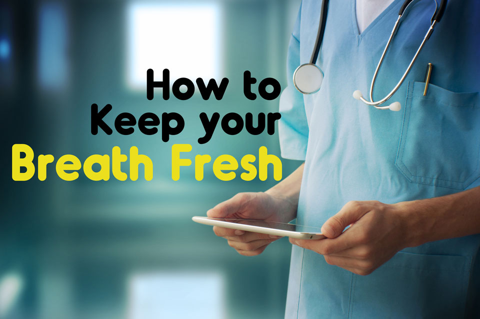 how to stop bad breath fast