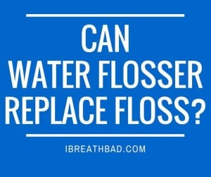 can water flosser replacee floss