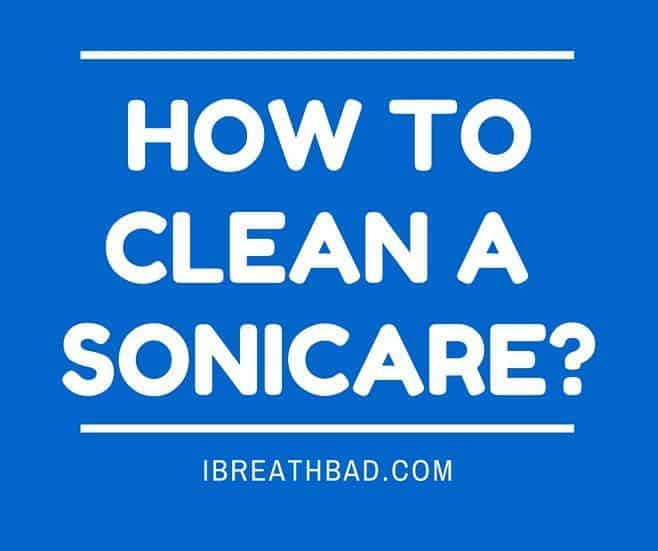 how to clean a sonicare toothbrush