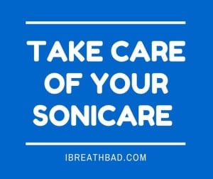 taking care of sonicare toothbrush