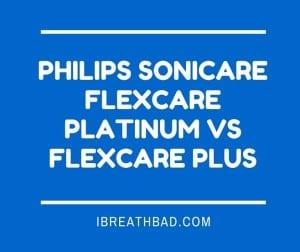 sonicare flexcare platinum vs flexcare plus