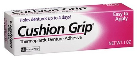 Secure Denture Adhesive >> 2. Cushion Grip Thermoplastic Denture Adhesive Review: