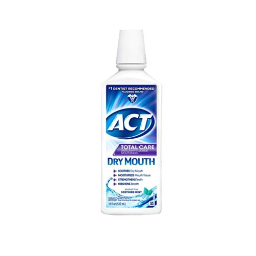 ACT Total Care Dry Soothing Mouthwash, Mint, 18 Ounce (Pack of 3)
