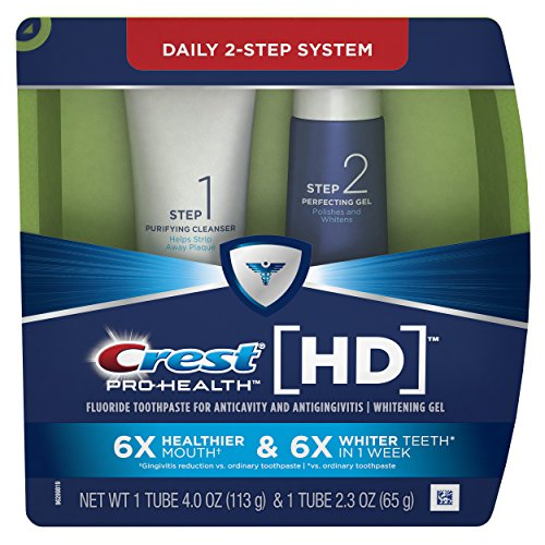 Crest Pro-Health HD Daily Two-Step Toothpaste System for a Healthier Mouth and Whiter Teeth