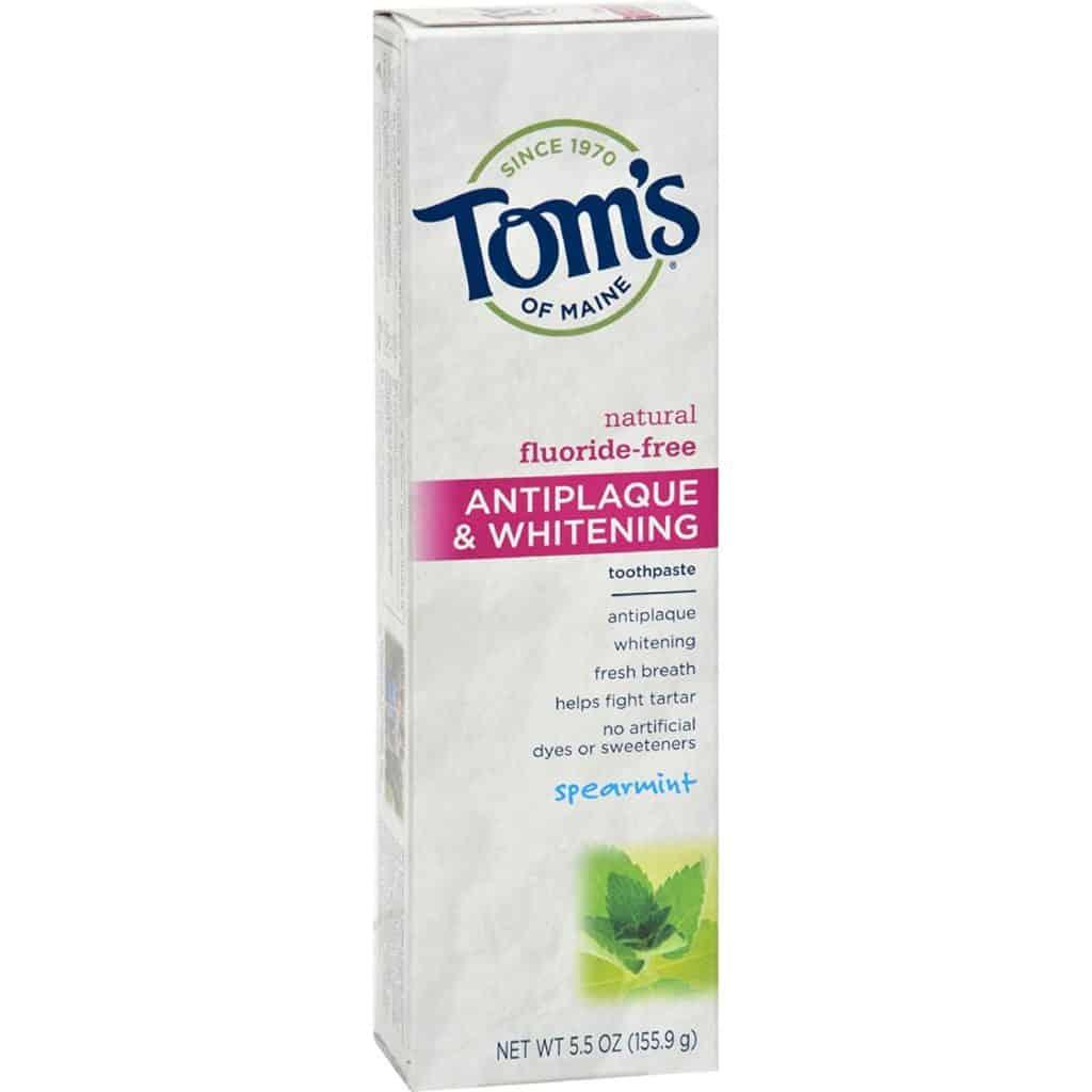 Tom's of Maine Antiplaque and whitening toothpaste